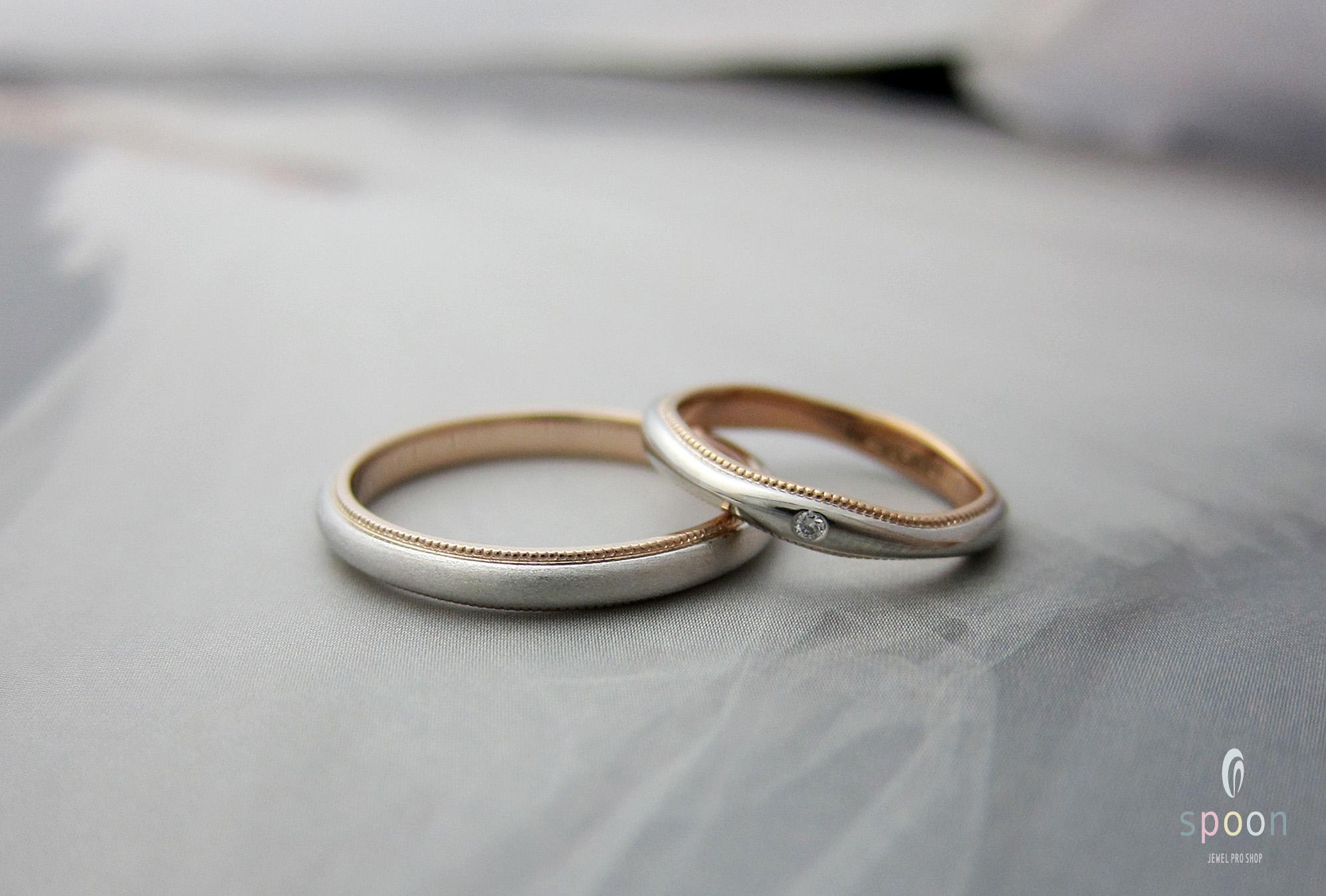 マリッジング,結婚指輪,ピンクミル,サンク,