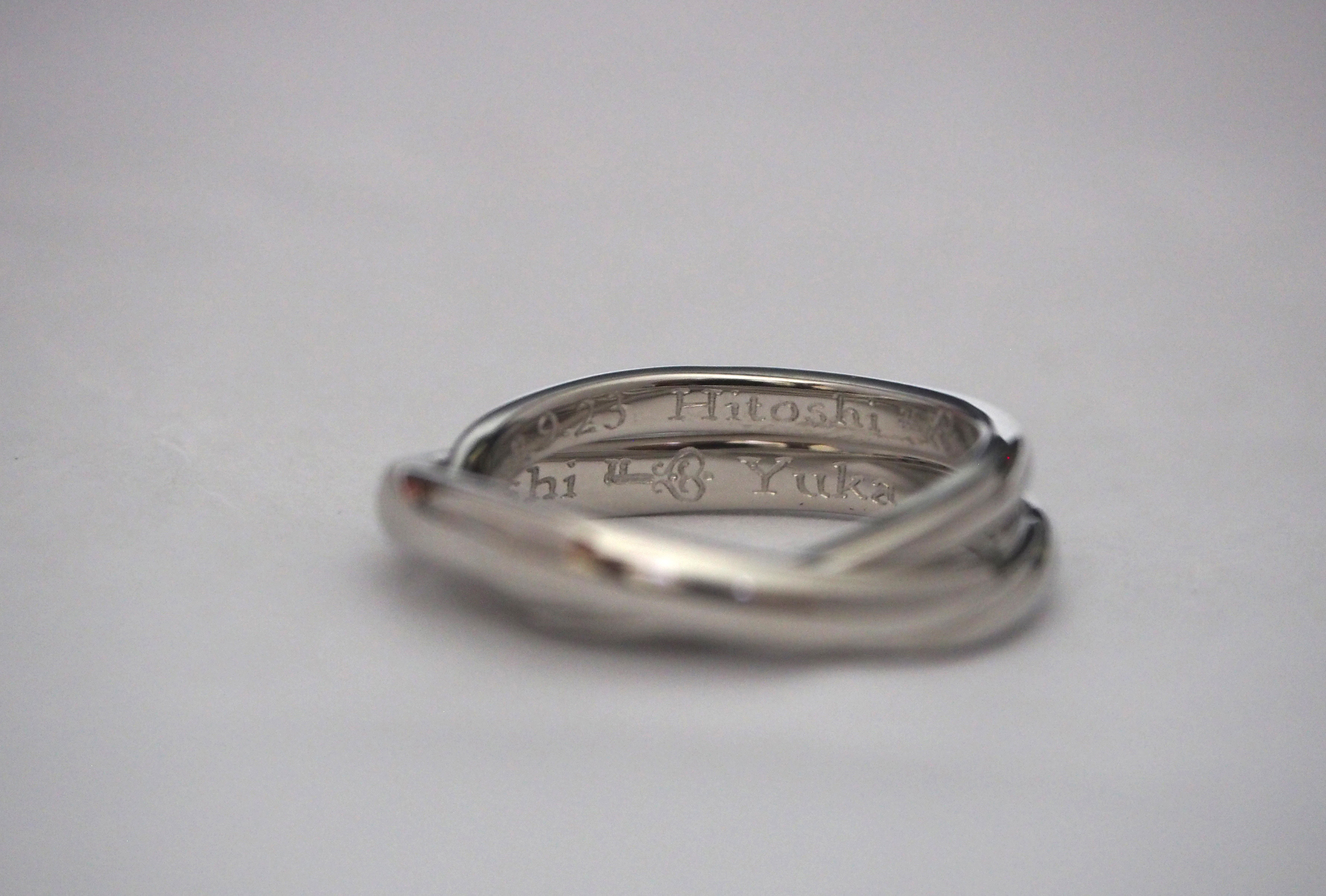 少しアレンジした結婚指輪