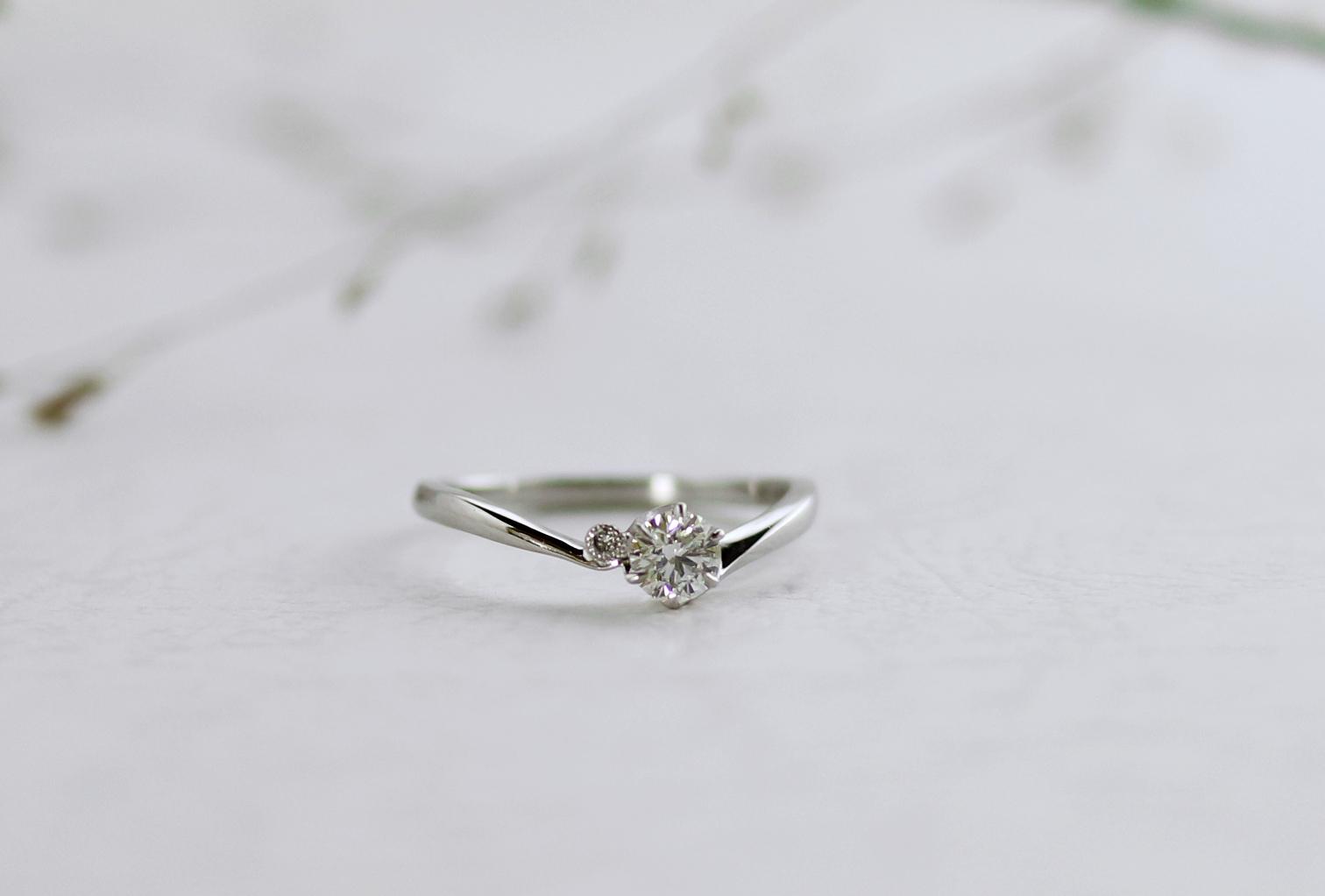ご自身の婚約指輪をオプハートにリメイク